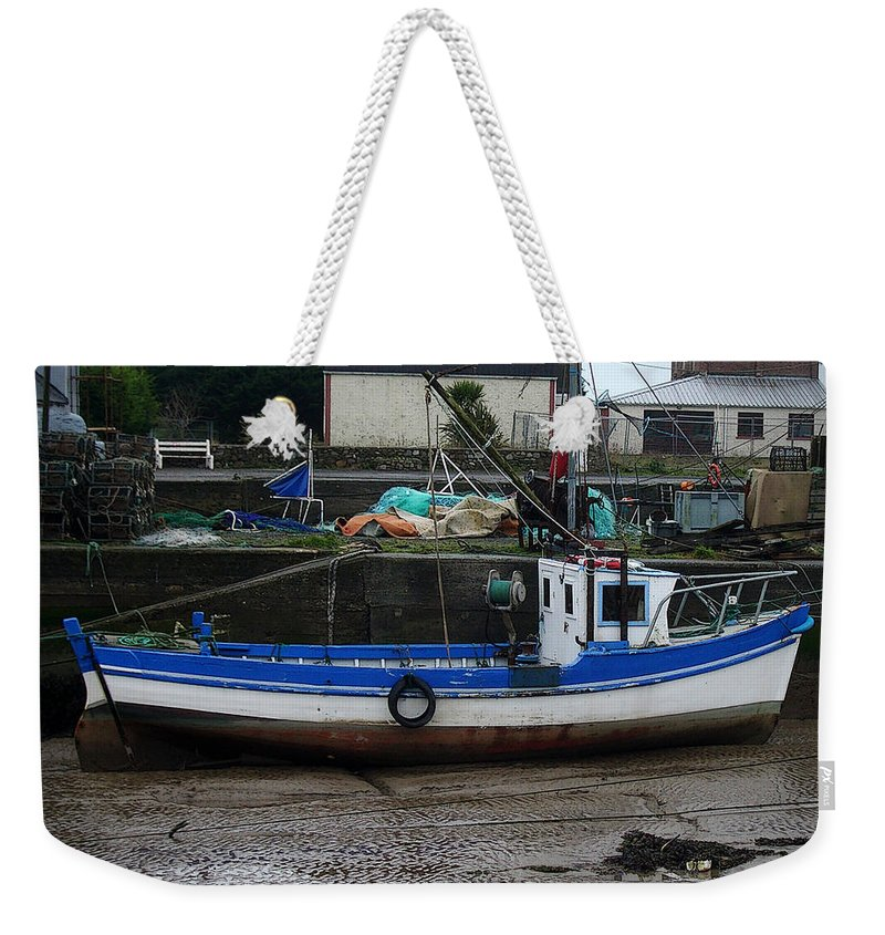 Boat Weekender Tote Bag featuring the photograph Low Tide by Tim Nyberg