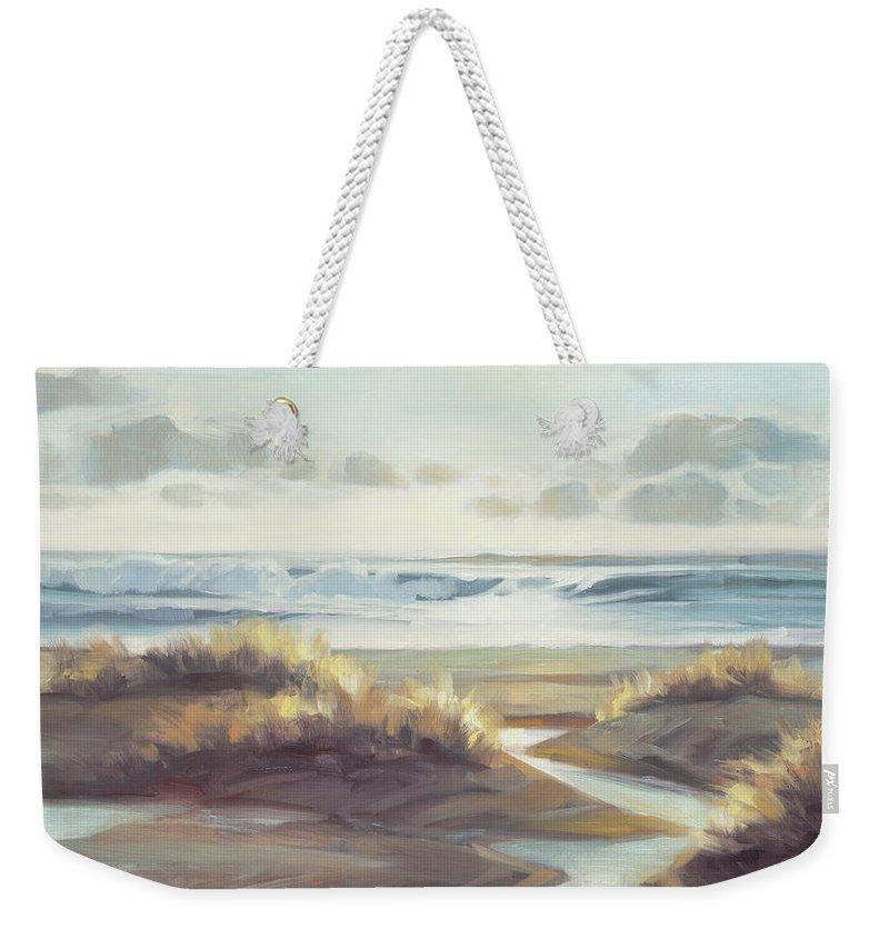 Ocean Weekender Tote Bag featuring the painting Low Tide by Steve Henderson