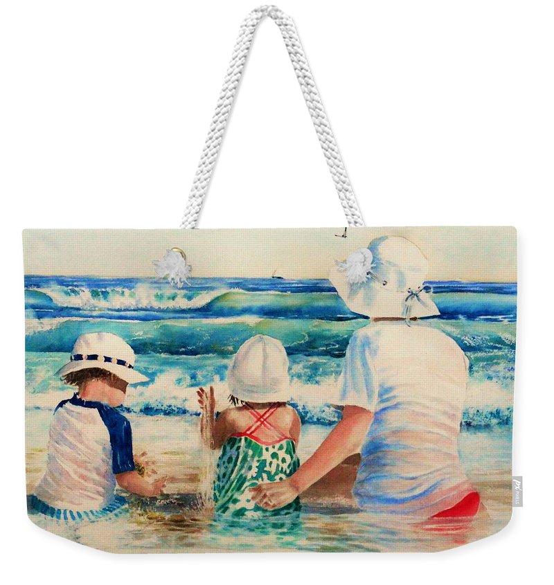 Beach Weekender Tote Bag featuring the painting Low Tide by Tom Harris