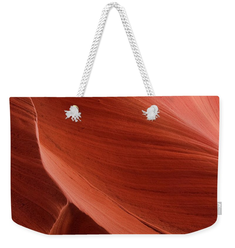 Slot Weekender Tote Bag featuring the photograph Lower Antelope Canyon 2 7855 by Bob Neiman