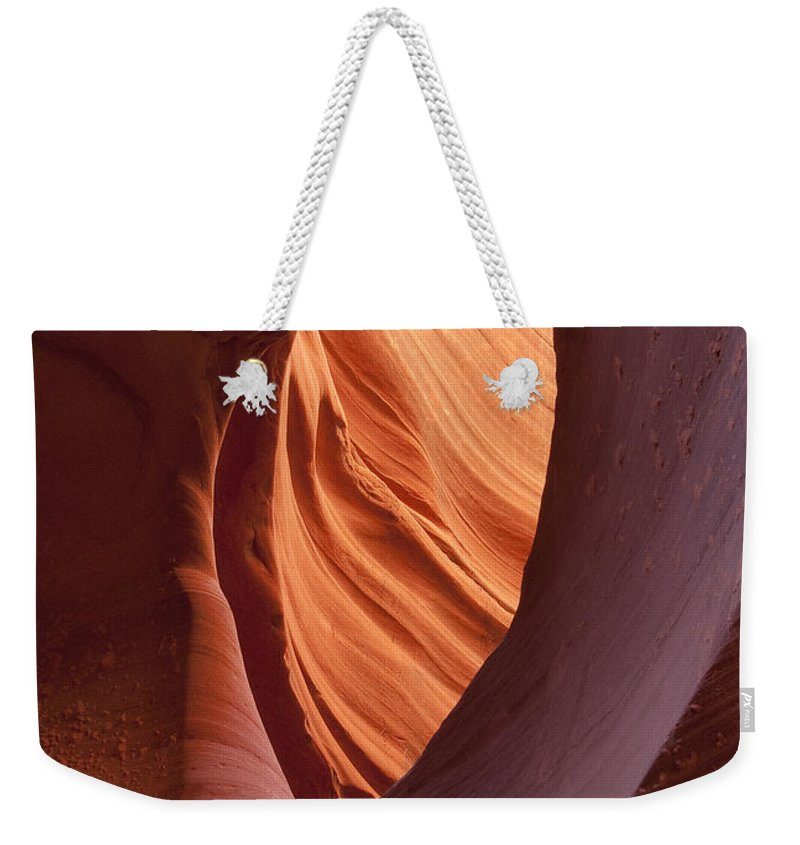 Slot Weekender Tote Bag featuring the photograph Lower Antelope Canyon 2 7898 by Bob Neiman