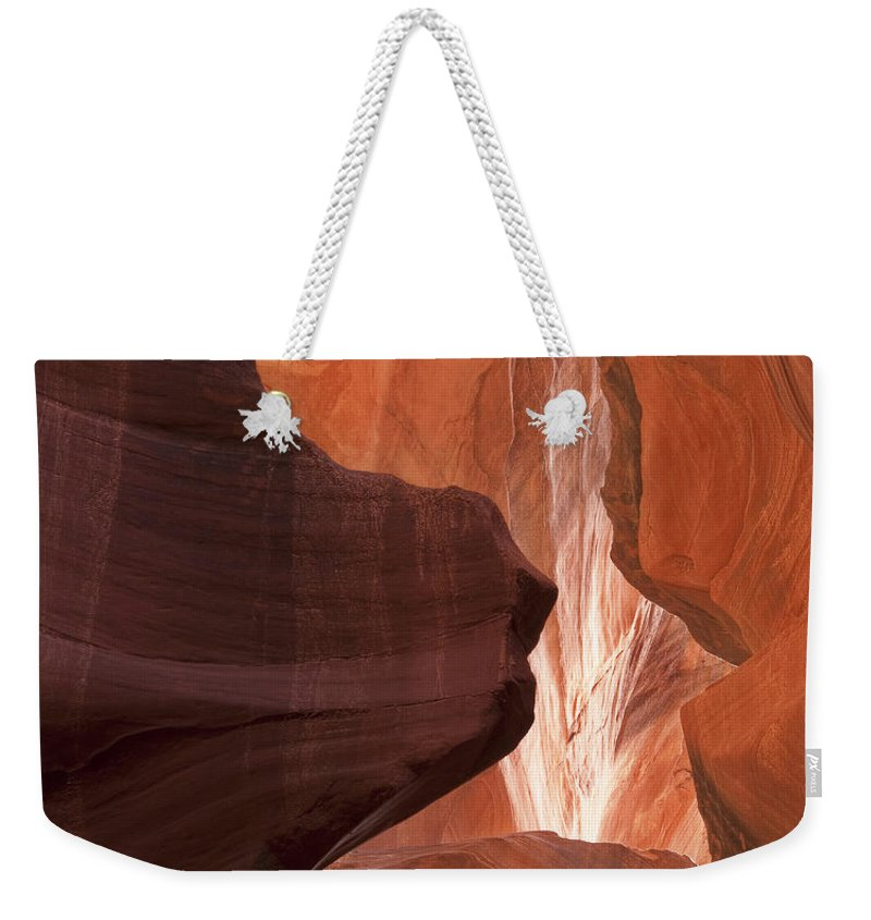 Slot Weekender Tote Bag featuring the photograph Lower Antelope Canyon 2 7912 by Bob Neiman