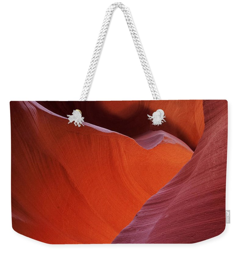 Slot Weekender Tote Bag featuring the photograph Lower Antelope Canyon 7724 by Bob Neiman