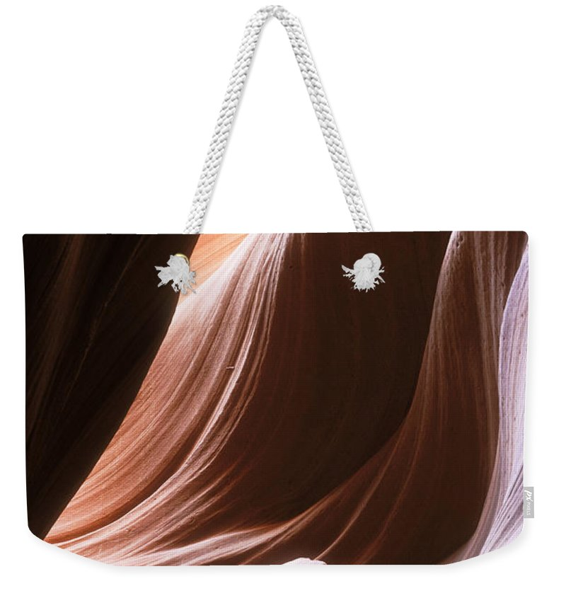Slot Canyon Weekender Tote Bag featuring the photograph Lower Antelope Slot Canyon by Sandra Bronstein
