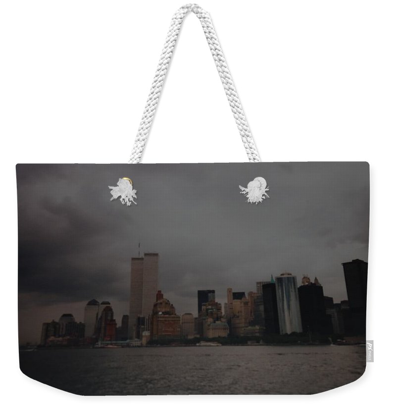 Wtc Weekender Tote Bag featuring the photograph Lower Manhattan by Rob Hans