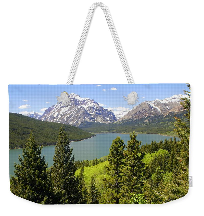 Two Medicine Lake Weekender Tote Bag featuring the photograph Lower Two Medicine Lake by Marty Koch