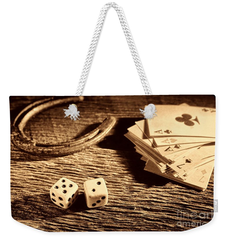 Craps Weekender Tote Bag featuring the photograph Lucky by American West Legend By Olivier Le Queinec