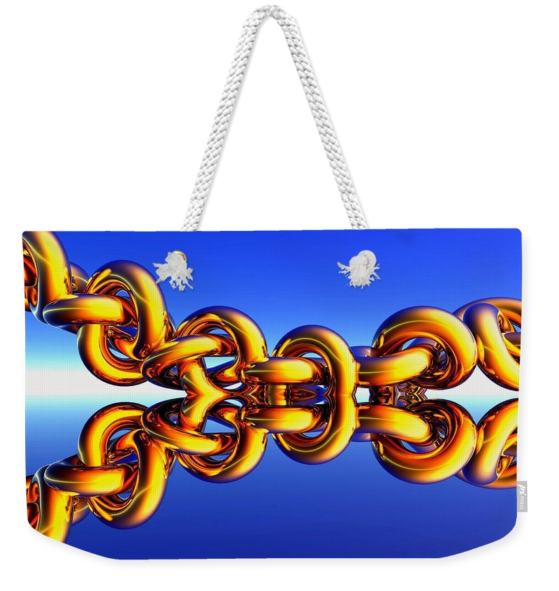 Chain Weekender Tote Bag featuring the digital art Lucky Charm by Robert Orinski