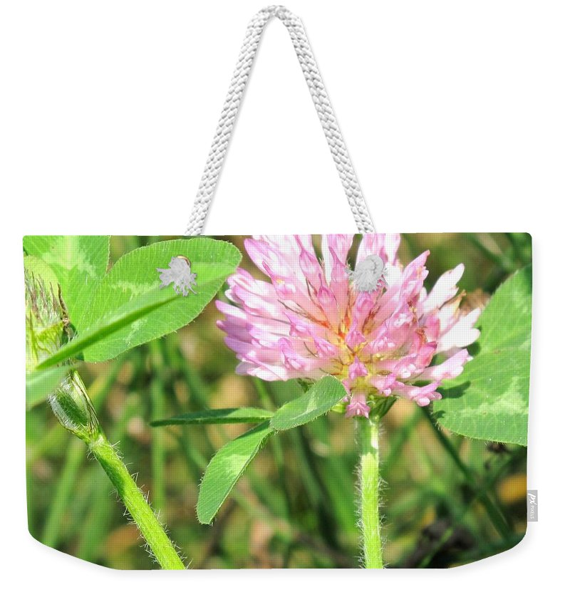 Clover Weekender Tote Bag featuring the photograph Lucky Clover by Ian MacDonald