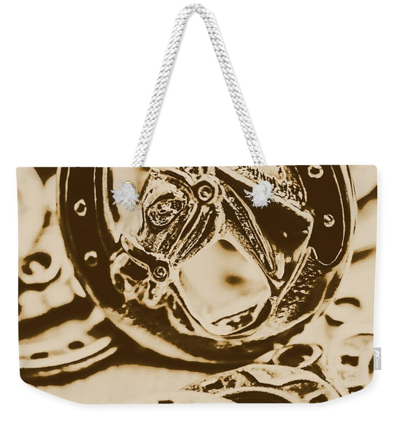 Vintage Weekender Tote Bag featuring the photograph Lucky Cowboys Charm by Jorgo Photography - Wall Art Gallery