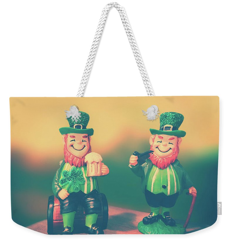Saint Patricks Day Weekender Tote Bag featuring the photograph Lucky by Iryna Goodall