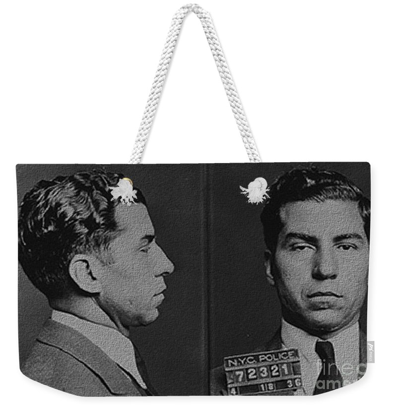 Lucky Luciano Weekender Tote Bag featuring the photograph Lucky Luciano by R Muirhead Art
