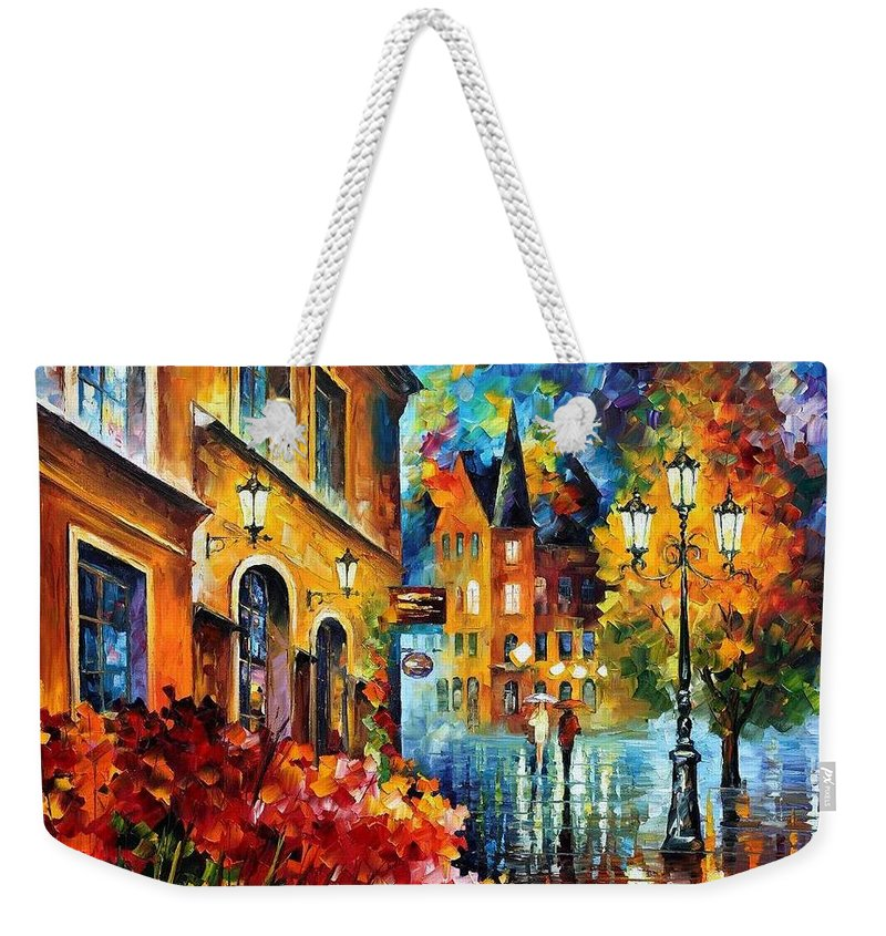Afremov Weekender Tote Bag featuring the painting Lucky Night by Leonid Afremov