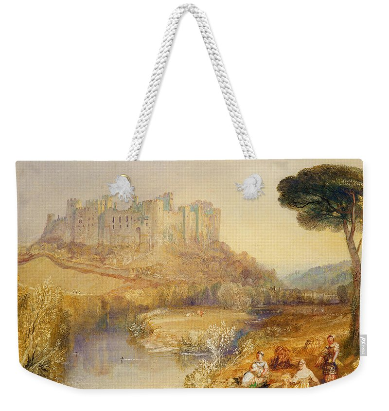 Ludlow Weekender Tote Bag featuring the painting Ludlow Castle by Joseph Mallord William Turner