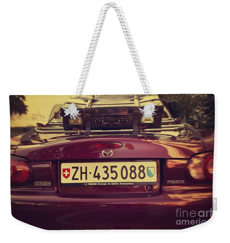 Car Weekender Tote Bag featuring the photograph Luggage by Dania Reichmuth