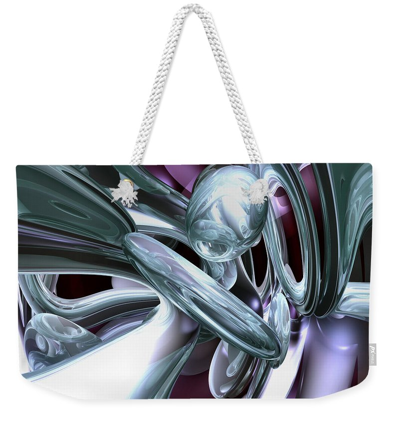 3d Weekender Tote Bag featuring the digital art Lullaby Dreams Abstract by Alexander Butler