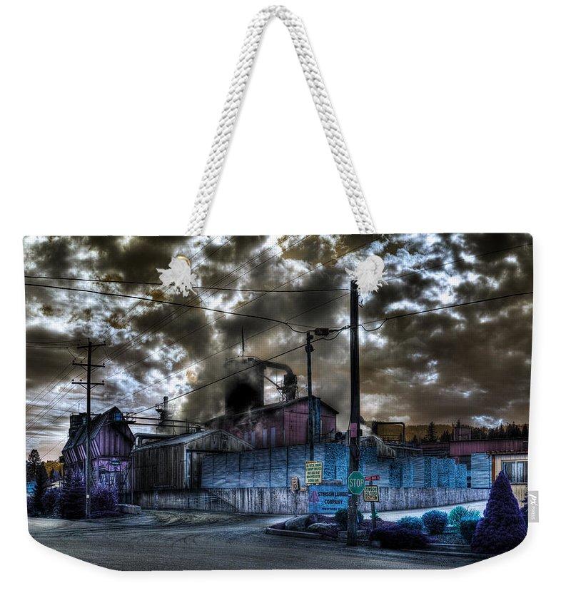 Digital Fantasy Weekender Tote Bag featuring the photograph Lumber Mill Fantasy by Lee Santa