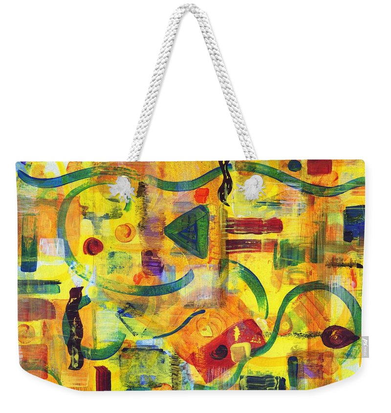 Abstract Weekender Tote Bag featuring the painting Luminal Progression by Melody Carr