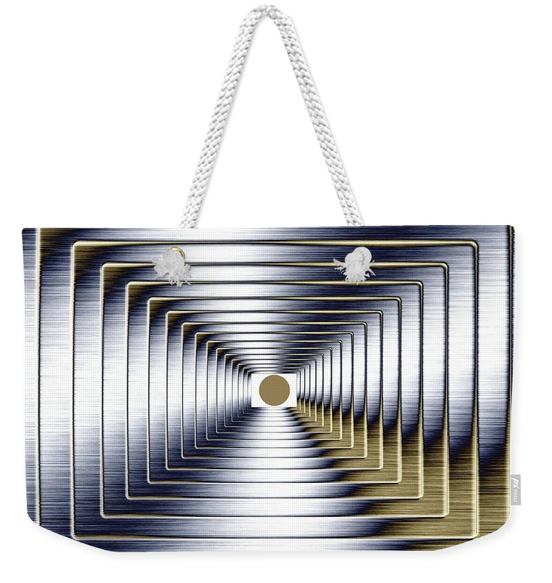 Abstract Weekender Tote Bag featuring the digital art Luminous Energy 1 by Will Borden
