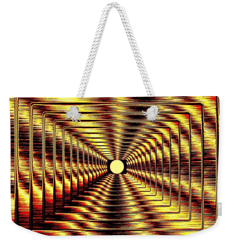 Abstract Weekender Tote Bag featuring the digital art Luminous Energy 2 by Will Borden