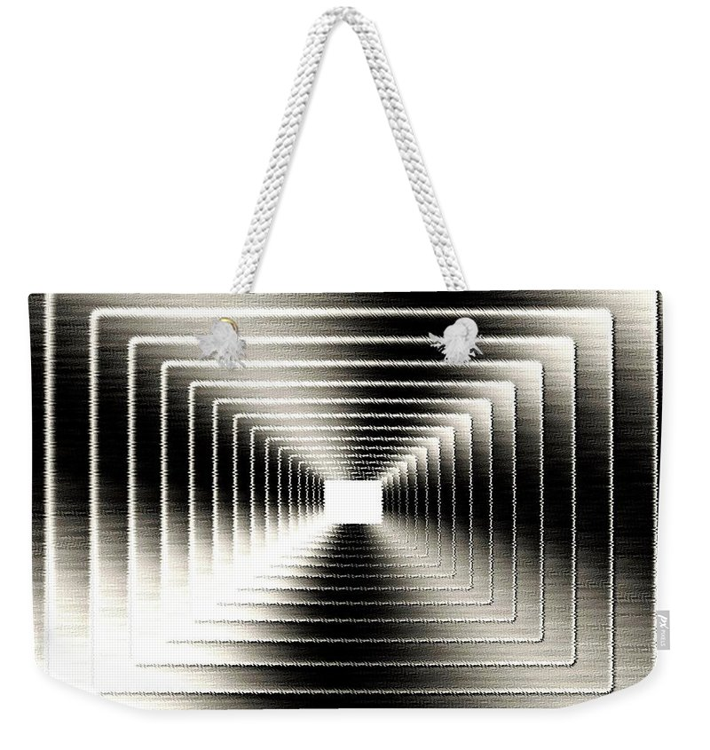Abstract Weekender Tote Bag featuring the digital art Luminous Energy 3 by Will Borden