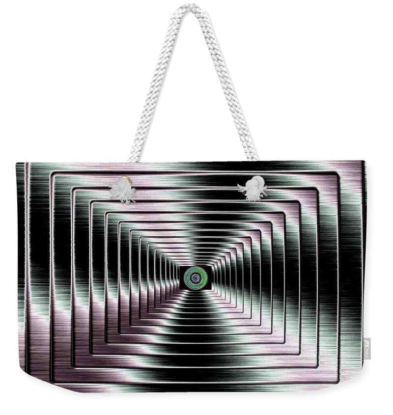 Abstract Weekender Tote Bag featuring the digital art Luminous Energy 4 by Will Borden