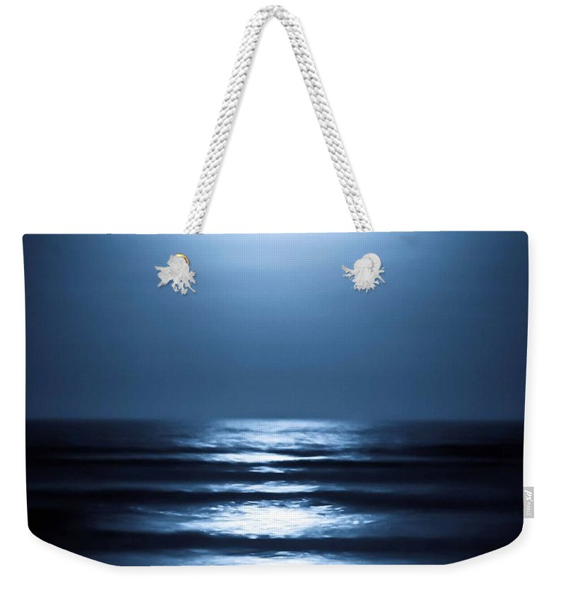 Lunar Weekender Tote Bag featuring the photograph Lunar Dreams by DigiArt Diaries by Vicky B Fuller