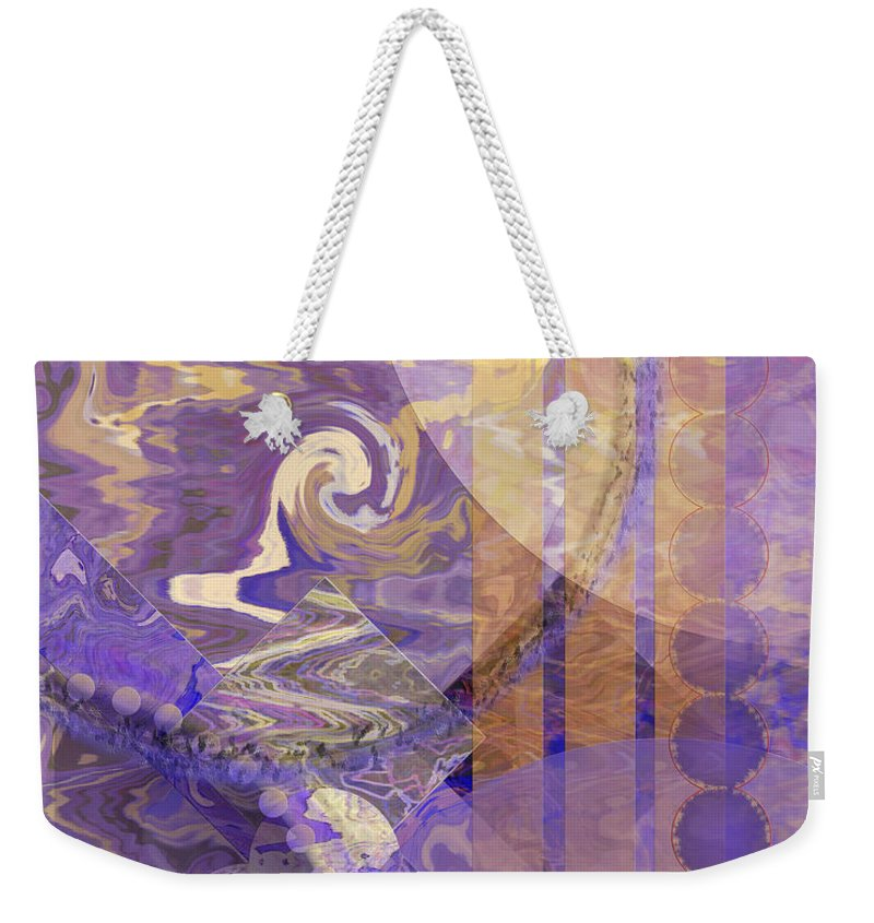 Lunar Impressions Weekender Tote Bag featuring the digital art Lunar Impressions by John Beck