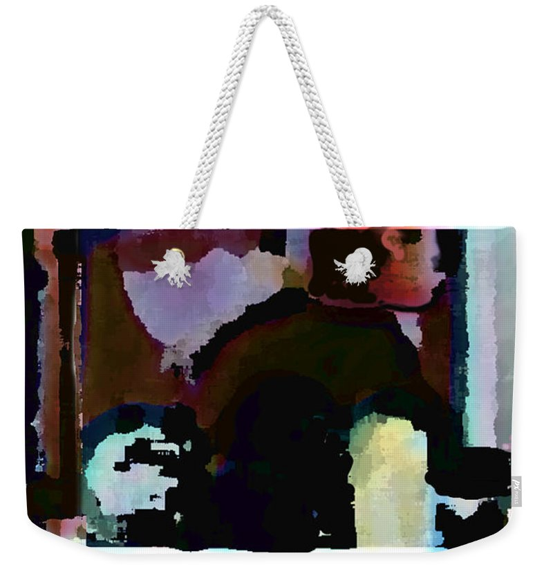 Abstract Expressionism Weekender Tote Bag featuring the painting Lunch Counter by Steve Karol