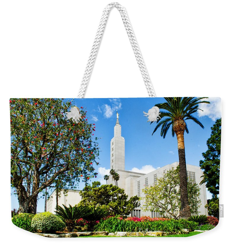 Lds Temple Photography Weekender Tote Bag featuring the photograph Lush La Temple by La Rae Roberts