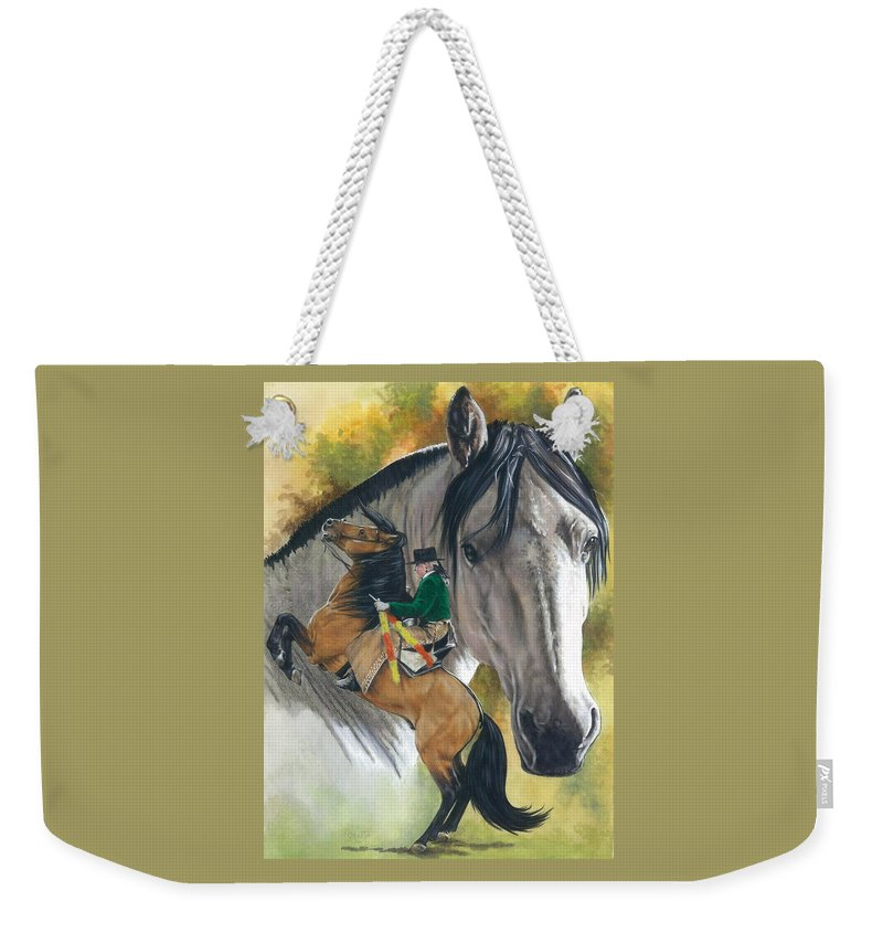 Hoof Stock Weekender Tote Bag featuring the mixed media Lusitano by Barbara Keith