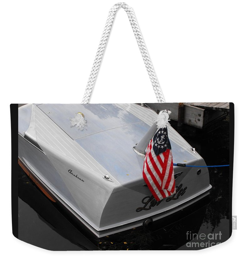 Powerboat Weekender Tote Bag featuring the photograph Century Arabian by Neil Zimmerman