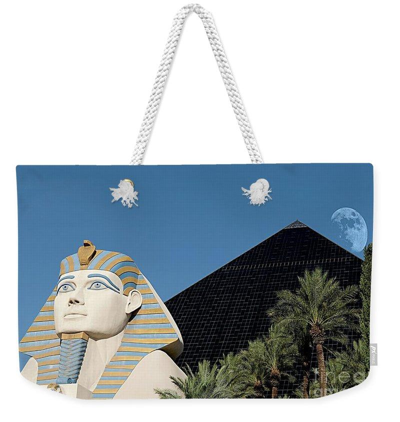 Luxor Hotel Las Vegas Weekender Tote Bag featuring the photograph Luxor Hotel Las Vegas by Bob Pardue