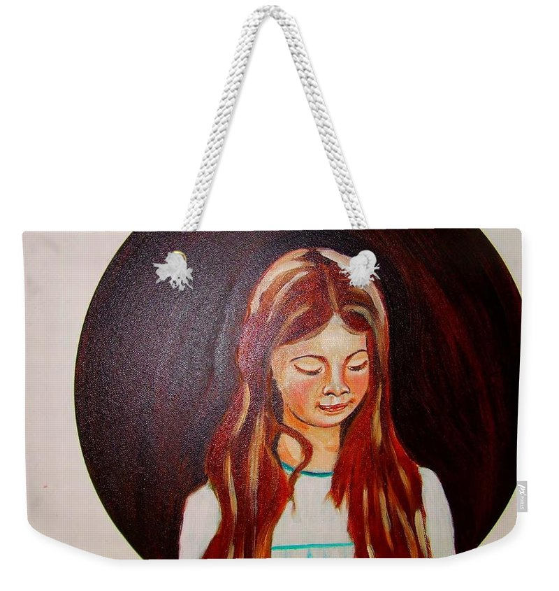 Portraits Weekender Tote Bag featuring the painting Lydia by Rusty Gladdish