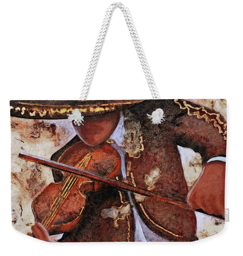 Charros Weekender Tote Bag featuring the painting M A R I A C H I .  I by J - O  N  E