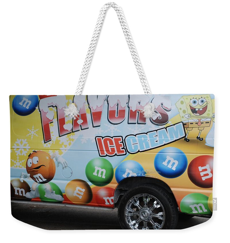 Sponge Bob Weekender Tote Bag featuring the photograph M And M Flavors For The Kids by Rob Hans