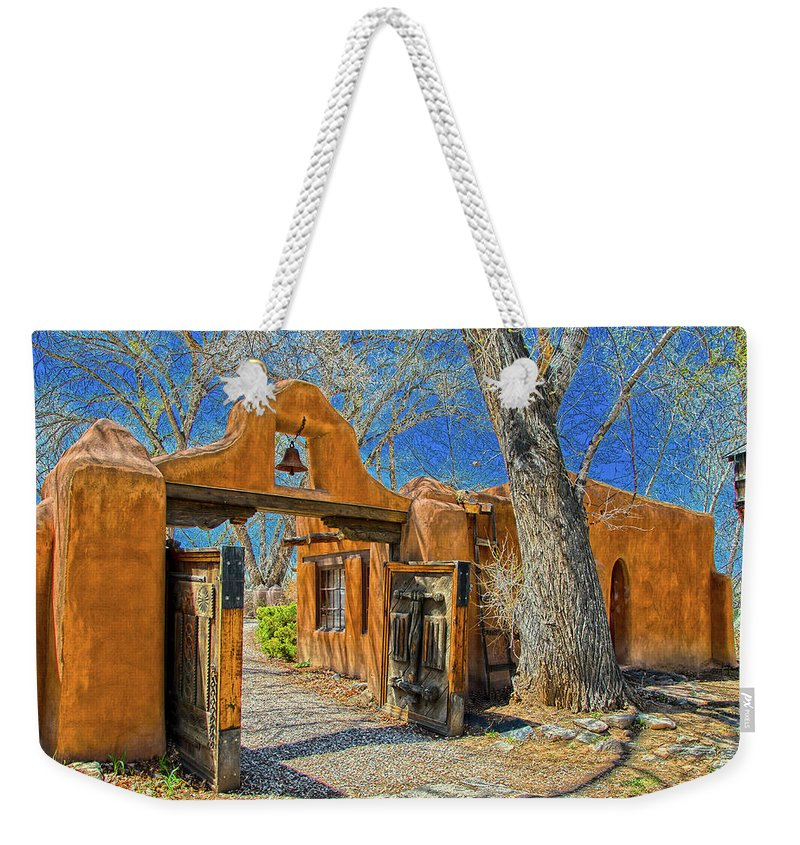 Mabel Weekender Tote Bag featuring the photograph Mabel's Gate by Charles Muhle