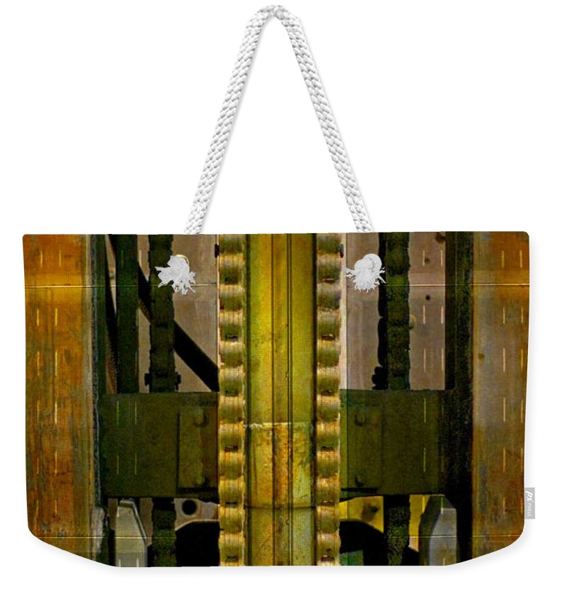 Texture Weekender Tote Bag featuring the photograph Machina by Skip Hunt