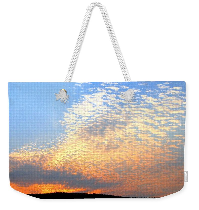 Mackerel Sky Weekender Tote Bag featuring the photograph Mackerel Sky by Will Borden