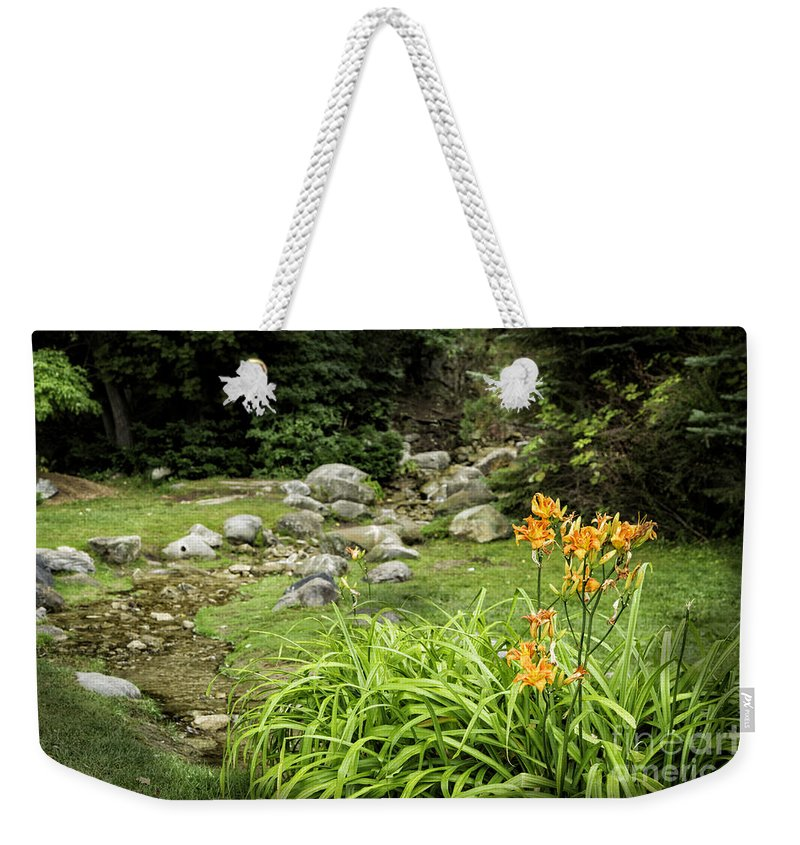 Lily Weekender Tote Bag featuring the photograph Mackinaw City Park by Timothy Hacker