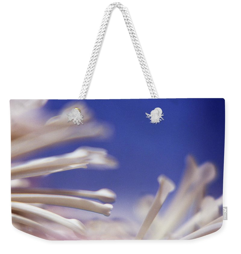 Macro Weekender Tote Bag featuring the photograph Macro Flower 2 by Lee Santa