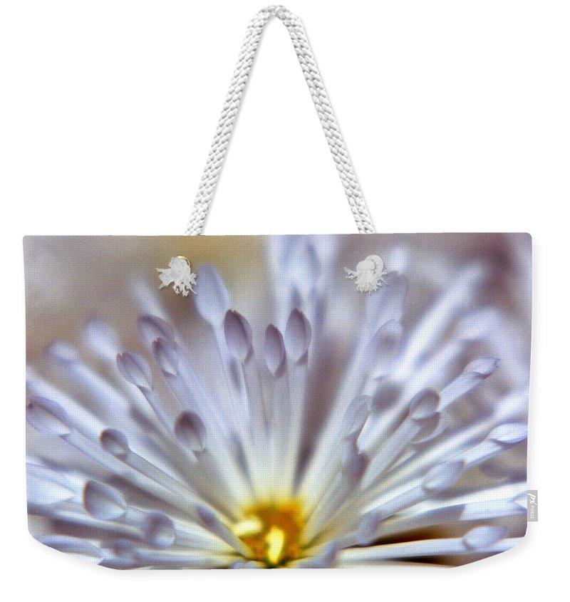 Macro Weekender Tote Bag featuring the photograph Macro Flower 3 by Lee Santa