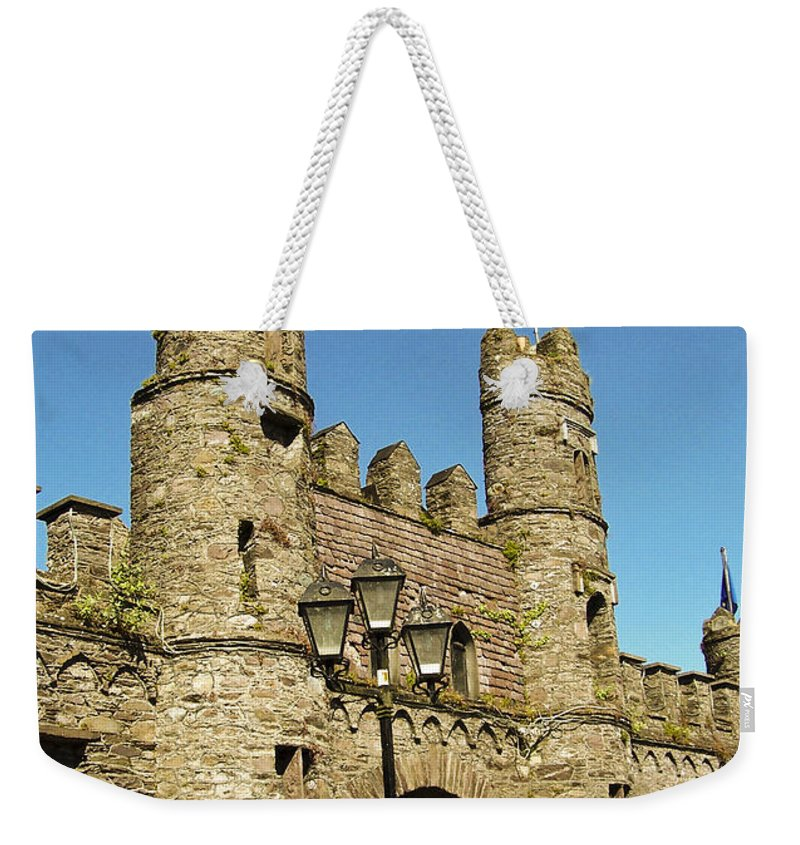 Irish Weekender Tote Bag featuring the photograph Macroom Castle County Cork Ireland by Teresa Mucha