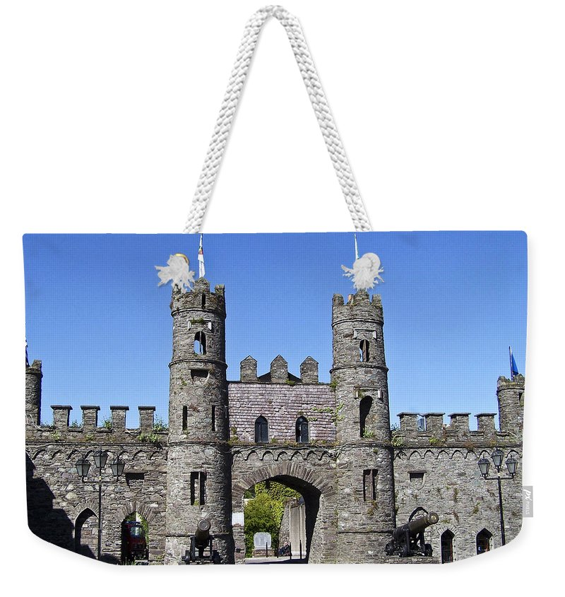 Irish Weekender Tote Bag featuring the photograph Macroom Castle Ireland by Teresa Mucha