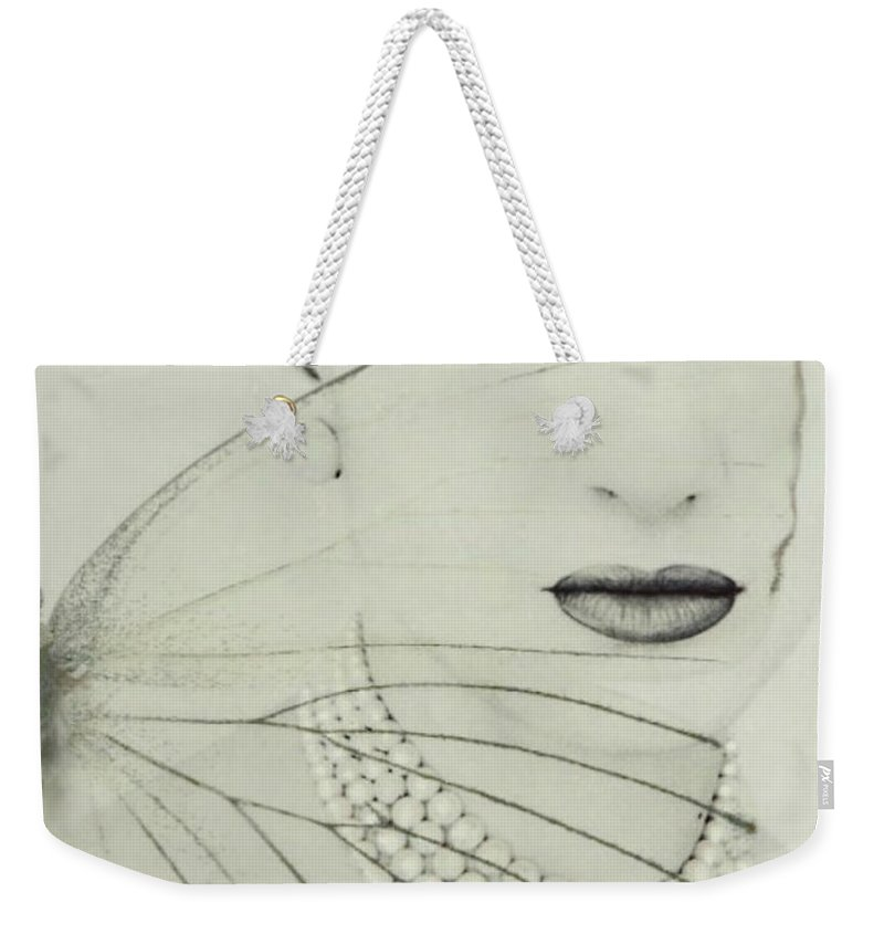 Maria Callas Weekender Tote Bag featuring the digital art Madam Butterfly - Maria Callas by Paul Lovering