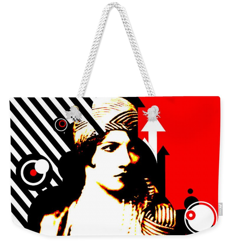 Nostalgic Seduction Weekender Tote Bag featuring the digital art Madam Stripe by Chris Andruskiewicz