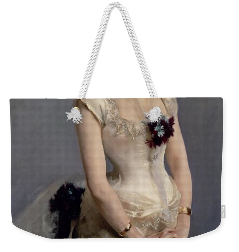 Madame Weekender Tote Bag featuring the painting Madame Paul Poirson by John Singer Sargent