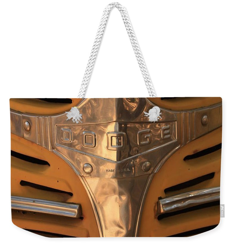 Dodge Weekender Tote Bag featuring the photograph Made In Usa by Carol Groenen