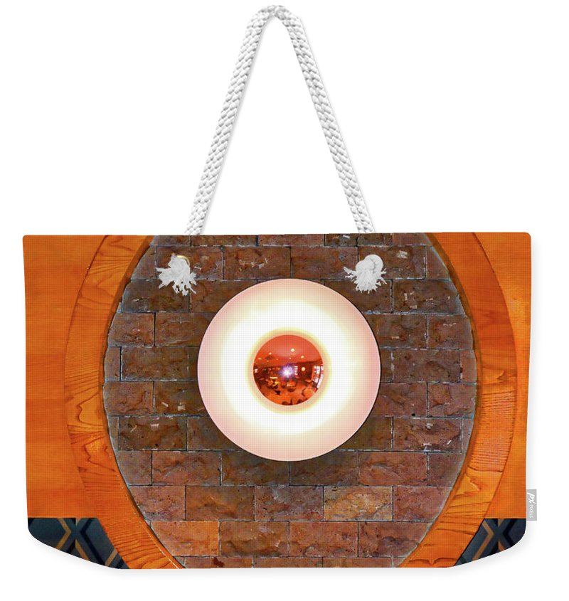 Art Weekender Tote Bag featuring the photograph Art Deco Cafe Wall Light by Wilf Doyle