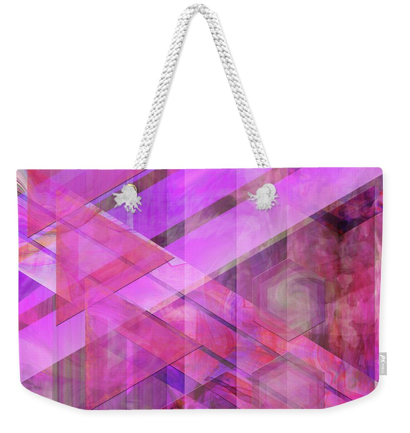 Magenta Haze Weekender Tote Bag featuring the digital art Magenta Haze by John Beck